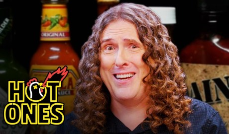 """""""Weird Al"""" Yankovic Goes Beyond Insanity While Eating Spicy Wings   Hot Ones"""