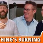 Brian Regan & Tom Papa Make Peanut Butter Brittle | Something's Burning with Bert Kreischer