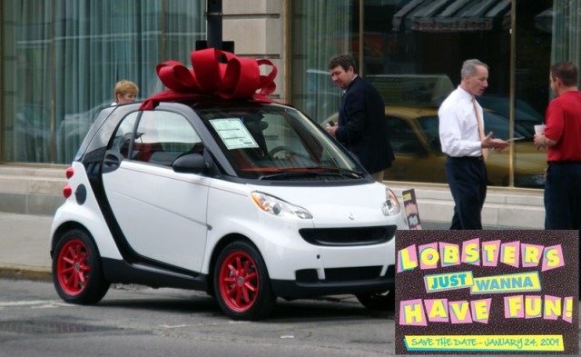 Actors Theater Smart Car Wrapped Up In A Bow