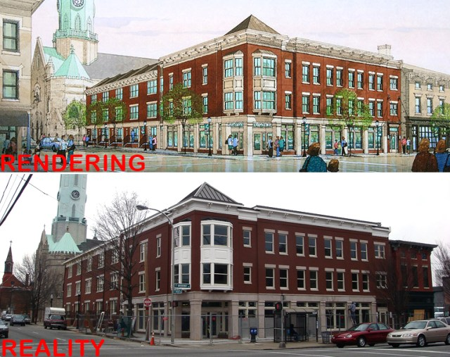 801 East Broadway: Rendering vs. Reality