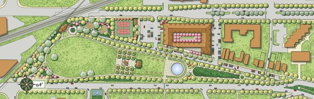 Future plans for Stansbury Park (courtesy University of Louisville Foundation)