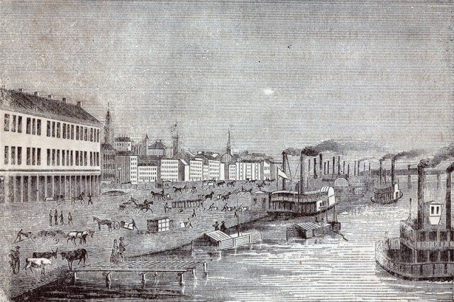 Louisville waterfront a long, long time ago