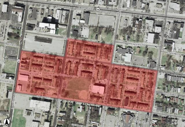 Shepherd Square & Smoketown vicinity (map via Lojic)