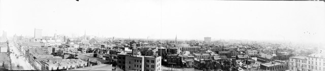 Southern view from atop the Glassworks circa 1906 (via HABS / LOC)