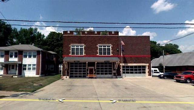 Current Beechmont Fire Station from 1924 (via Google Maps)