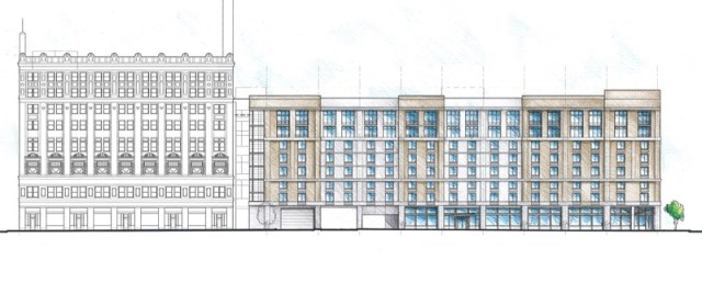 North (Chestnut Street) Elevation (courtesy City Properties Grouo)