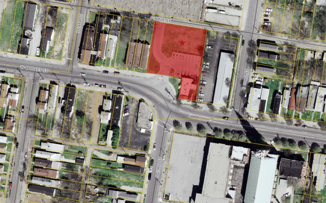 Ideal Theater site on West Market (via Lojic)