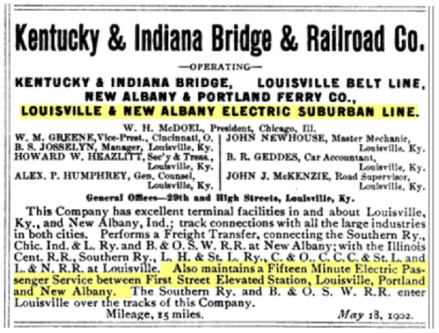 The listing above is from the 1902 Official Railway Guide.