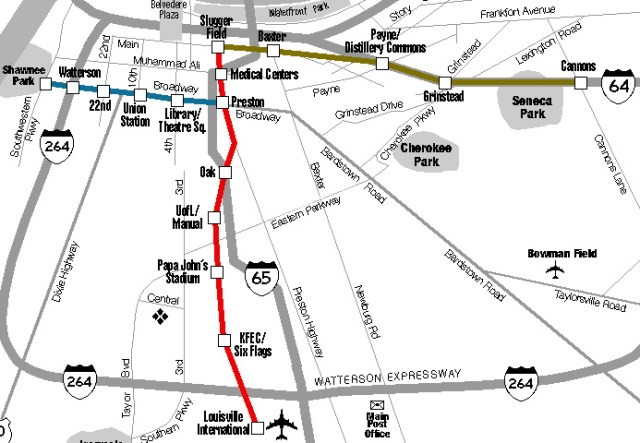 Map of proposed monorail routes (Courtesy Scott Ritcher)