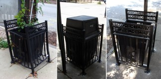 Trash cans in Butchertown (BS File Photos)