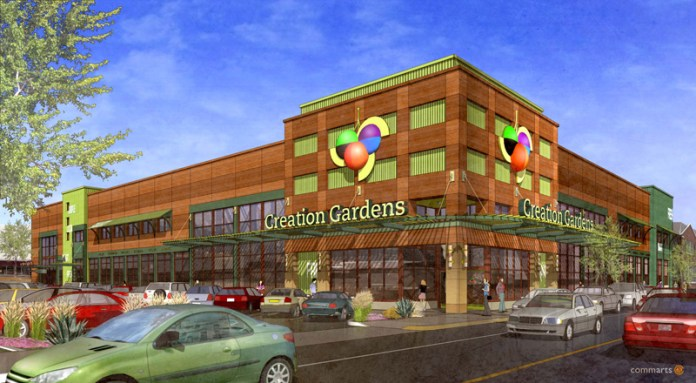 Planned East Market Street Facility (Courtesy Creation Gardens)