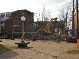 Demolition at Spalding University (Courtesy Tipster)