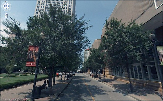 Fourth Street north from Jefferson today (via Google)
