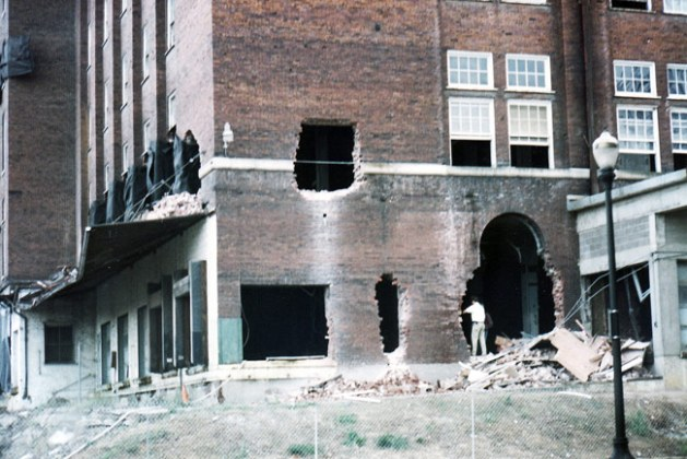 Belknap Hardware buildings before implosion (Courtesy SteveBillieJene / flickr)