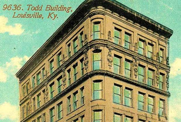Detail of the now-demolished Todd Building (BS File Postcard)