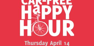 Car-Free Happy Hour on Thursday, April 14