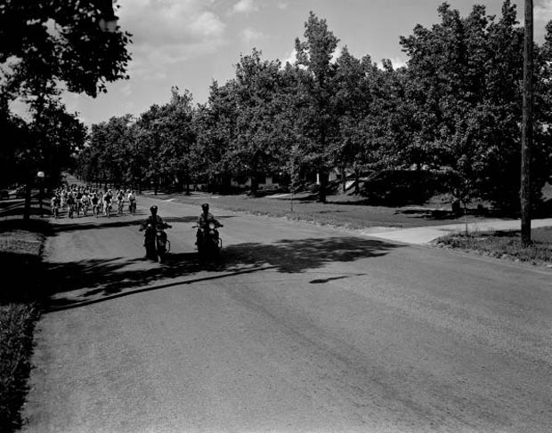 Bicycle parade on Southern Parkway (Courtesy UL Photo Archives)