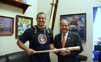 Troy Yocum and Congressman John Yarmuth (Courtesy Troy Yocum / Drum Hike)
