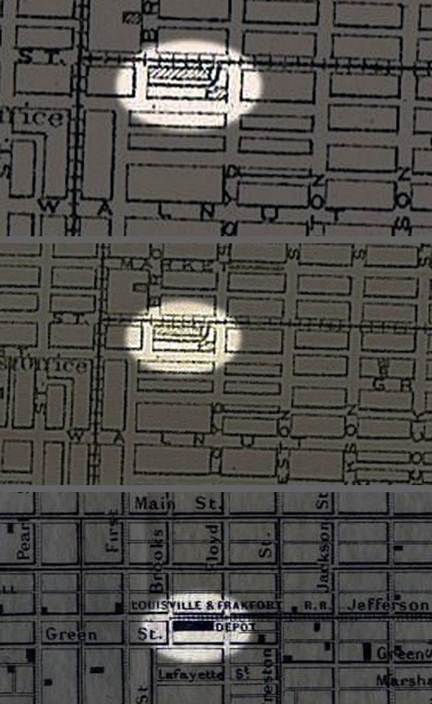 Rail depot on the Haymarket site (Various old maps)