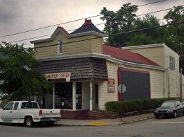 Longshot Tavern on Frankfort Avenue. (Broken Sidewalk)