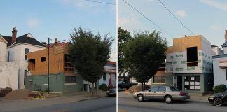 Building under renovation on Bardstown Road. (Branden Klayko)