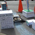 CART built a model city for Park(ing) Day. (Mary Beth Brown)