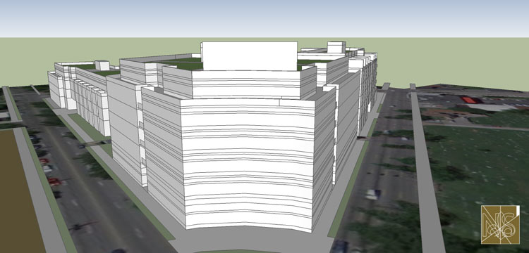 A building on a proposed roundabout at Baxter Ave. and Broadway. (Courtesy Nicholas Seivers)