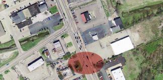 Site where pedestrian was killed. (Courtesy Lojic)