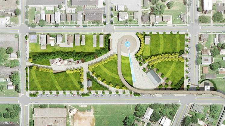 Big Four Station site plan. (Courtesy The Estopinal Group)