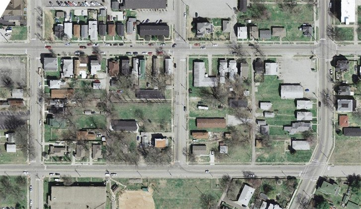 Site of Big Four Station in Jeffersonville from 2006. (Courtesy Lojic)