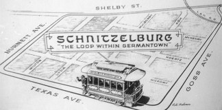 The old Schnitzelburg trolley loop. (Courtesy G-town/S-burg Blog)