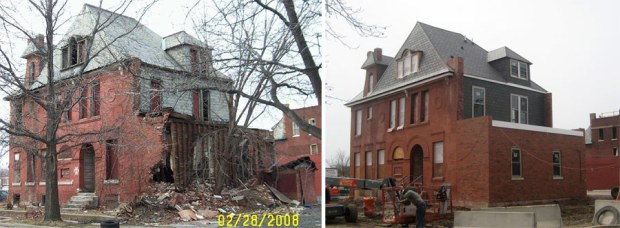 Before and after preservation in St. Louis. (Courtesy Vanishing STL)