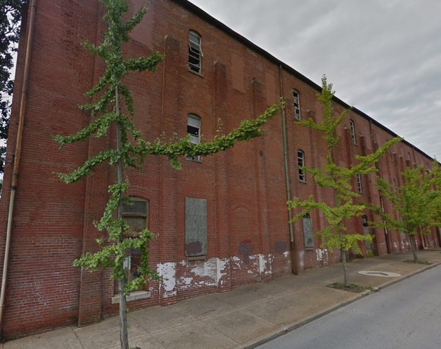 The warehouses of Mellwood Distillery likely appeared similar to these warehouses along Lexington Road at Payne Street. (Courtesy Google)