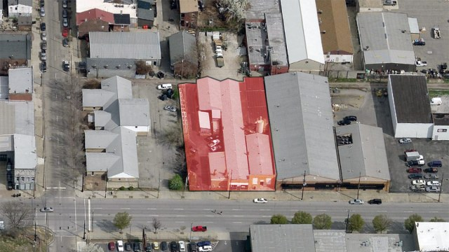 Site of the Funeral Director's Vault company. (Courtesy Bing)