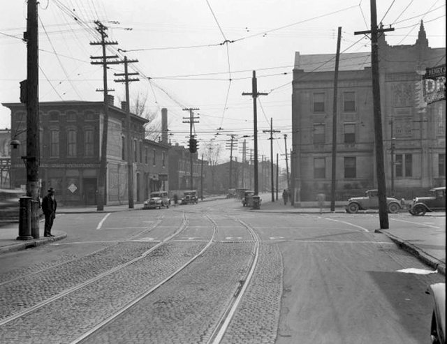 Looking south on Preston Street from East Broadway. (Courtesy UL Photographic Archives / Reference URL)