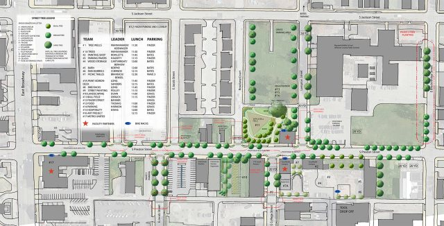 Site plan showing planned changes.