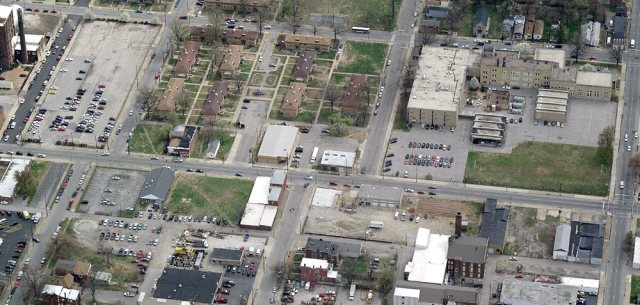 A now somewhat-dated aerial view of Preston Street. (Courtesy Bing)