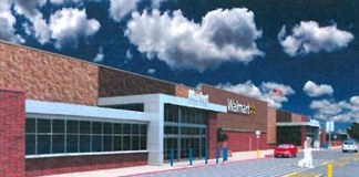 Rendering of the proposed Walmart at 18th Street and Broadway.