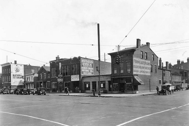 Southeast corner of Broadway and First Street. (Courtesy UL Photo Archives)