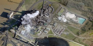 LG&E's Cane Run Generating Station in Southwest Jefferson County. (Courtesy Bing)