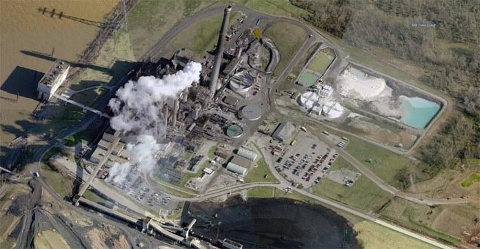 LG&E's Cane Run Generating Station in Southwest Jefferson County. (Courtesy Bing)