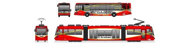 DC Circulator and DC Streetcar, to scale. These are not the same thing. (Courtesy BeyondDC)