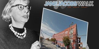 Louisville's Jane Jacobs Walk 2015 begins at the Butchertown Market. (Montage by Broken Sidewalk)