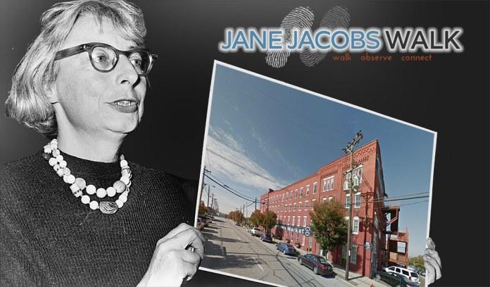 Louisville's Jane Jacobs Walk 2015 begins at the Butchertown Market. (Montage by Broken Sidewalk)