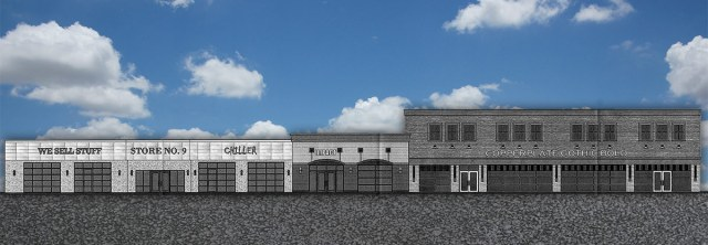The new facade. (Courtesy The Hub Louisville, with a new sky by Broken Sidewalk)