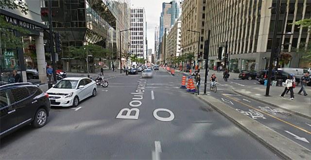 Boulevard de Maissonneuve, Montreal. (Courtesy Google)