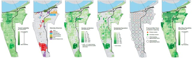 Charts show the feasibility of Louisville's bike share system. (Courtesy Bike Louisville)