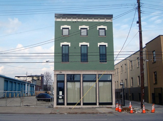 The Little Green Building after renovations in 2010. (Branden Klayko / Broken Sidewalk)