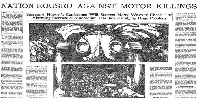 An illustration from the New York Times, Nov 23, 1924. (Via 99pi)