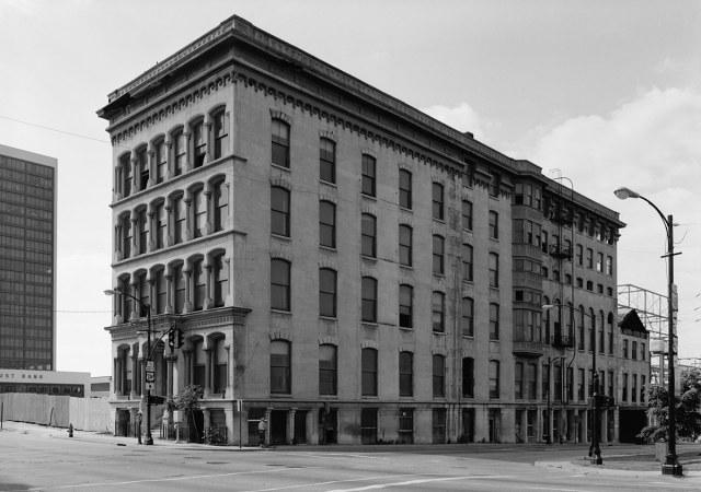The building in 1957.